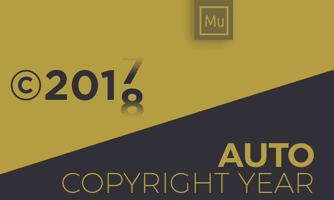 Auto Copyright Year Update - Adobe Muse Expert